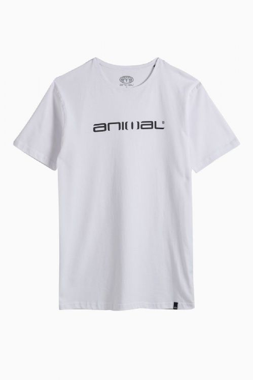 ANIMAL MENS T SHIRT.NEW CLASSICO WHITE COTTON SHORT SLEEVED TOP CREW TEE 8W 2 1